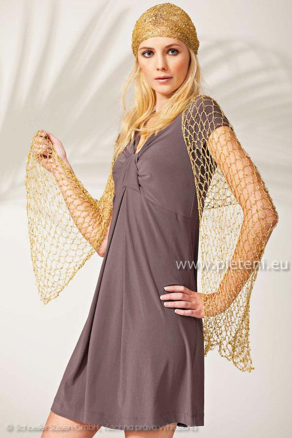 63c54f64906a Ručně pletené a háčkované oděvy Austermann jaro-léto 2011 s návody a vzory  pletení. lupa. háčkovaný šátek a šála z příze Palila