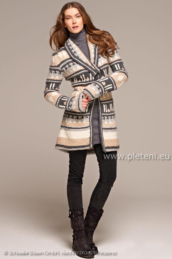 dámský ručně pletený kabátek z příze Softy ea7ae3ba10