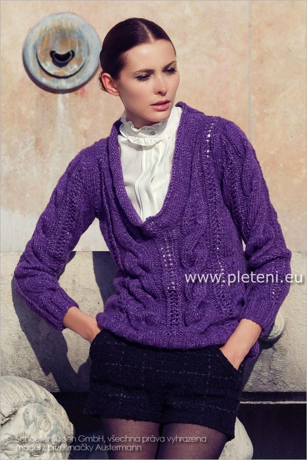 dámský ručně pletený svetr z příze Natura 92f6790e83