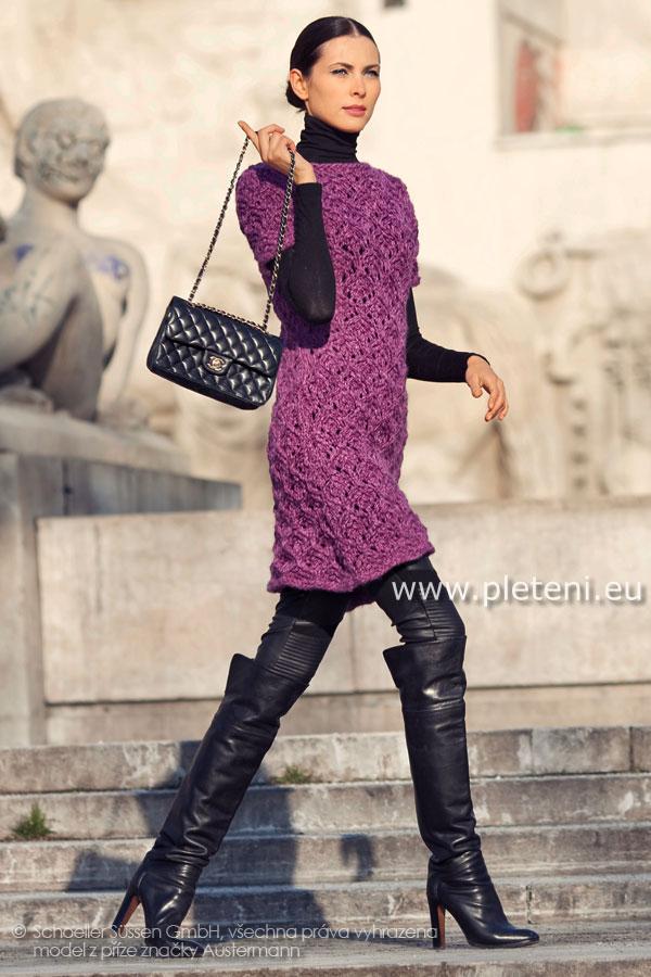 6f8aec629cce dámské ručně pletené šaty z příze Softy
