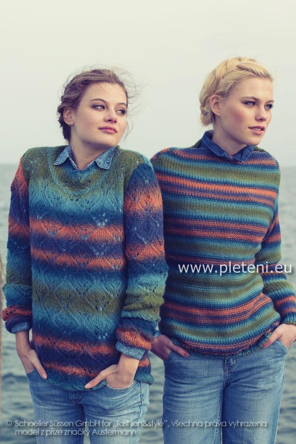 dámské ručně pletené svetry z příze Caleido a Caleido Lace 1ef020c795
