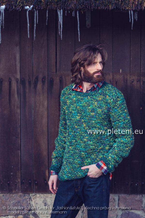pánský ručně pletený svetr z příze Country Tweed a Mariana Color 58c8a80753