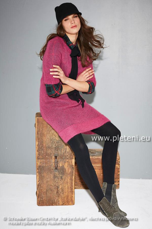 60dfeb5309a5 dámské ručně pletené šaty z příze Kid Silk