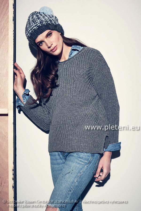 1e84c7d6c2f dámský ručně pletený svetr a čepice z příze Merino 105 a Softy