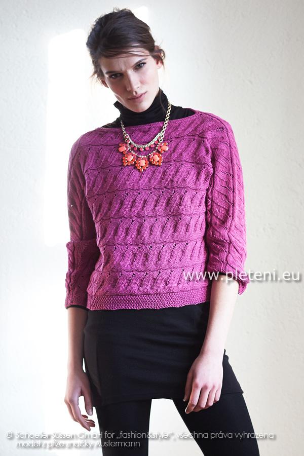 dámský ručně pletený svetr z příze Merino 160 2469b75d42