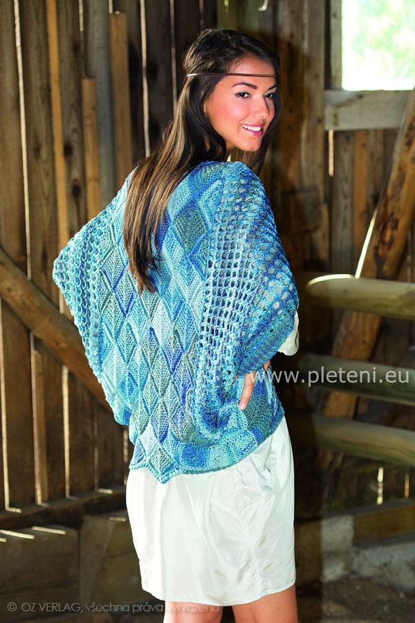 e321ddef02a4 dámský pletený letni svetřík z příze Pantino Effekt Color