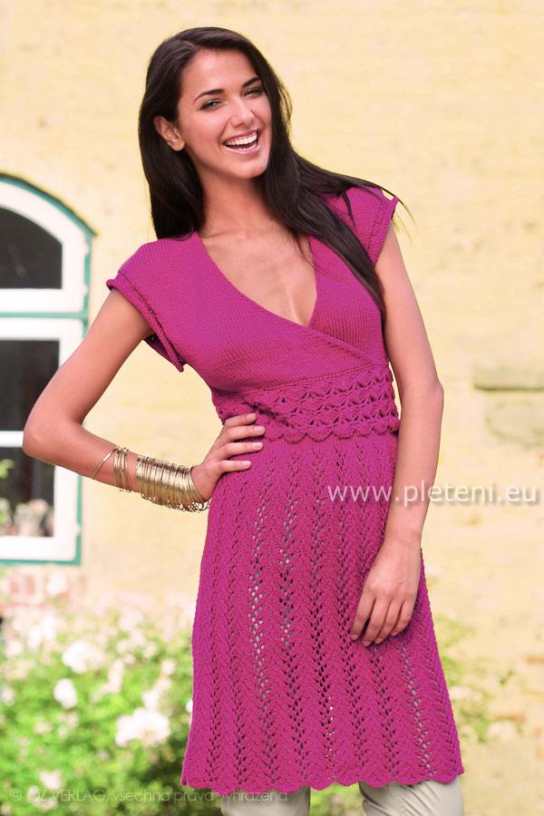 9eea1a51ad71 ručně pletené letní šaty z příze Novela