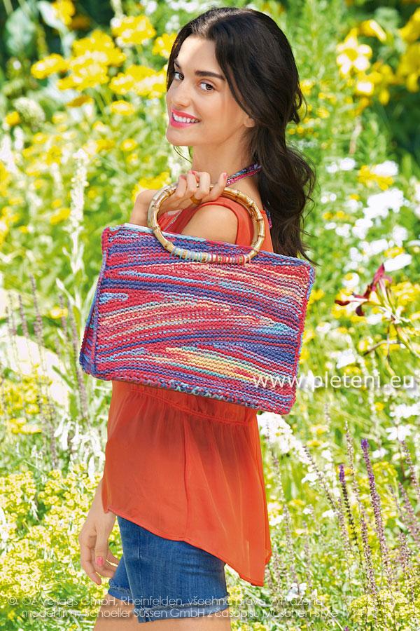 ff44422785 dámská letní ručně pletená taška z příze Veneta Color