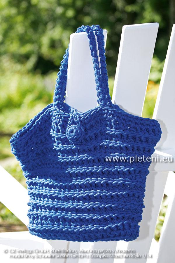 1da82e7f81 dámská letní háčkovaná taška z příze Anya