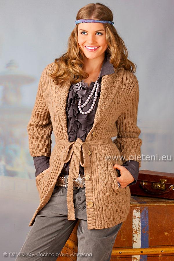 dámský ručně pletený kabátek z příze Limbo 2a83c0fa05