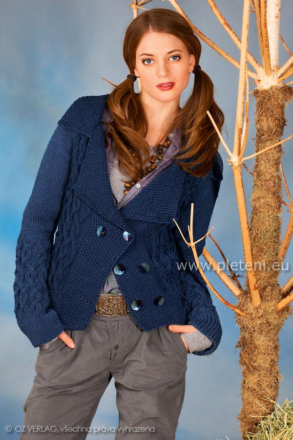 dámský ručně pletený kabátek z příze Cosima 486aa7bb7a
