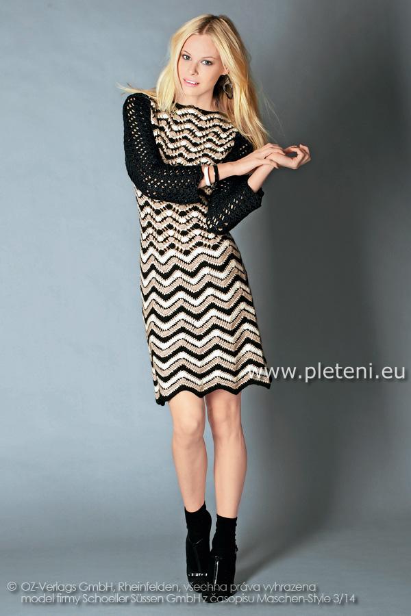 7050942943ab dámské háčkované šaty z příze Baby mix