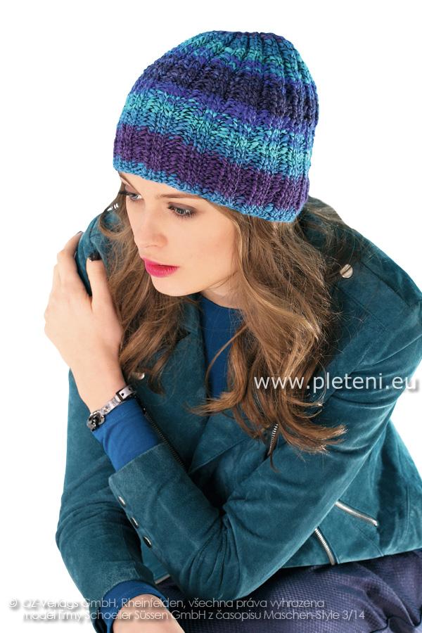 dámská ručně pletená čepice z příze Spirali bbd31e06d7