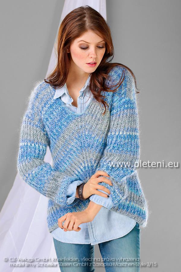 dámský ručně pletený svetr z příze Merino 105 Color a Kid Silk 2359c33f3b