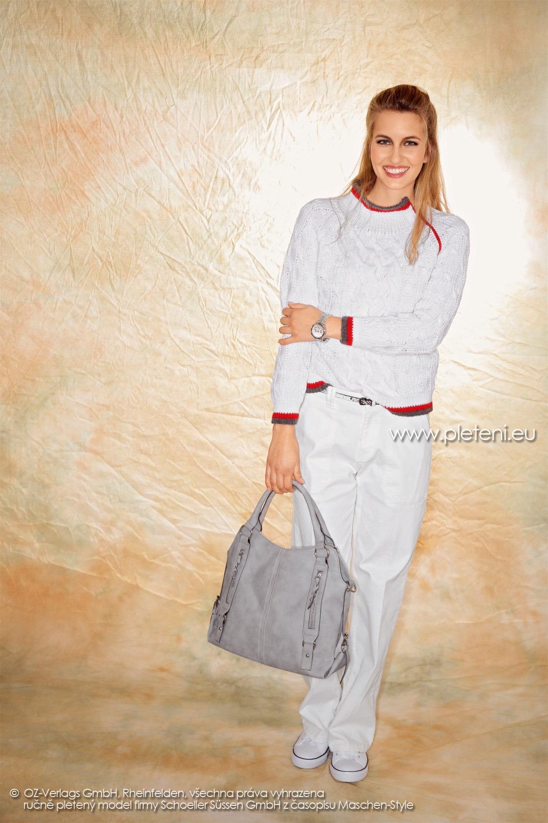 2017-2018 model 15 dámský pletený svetr z příze Allround firmy Schoeller