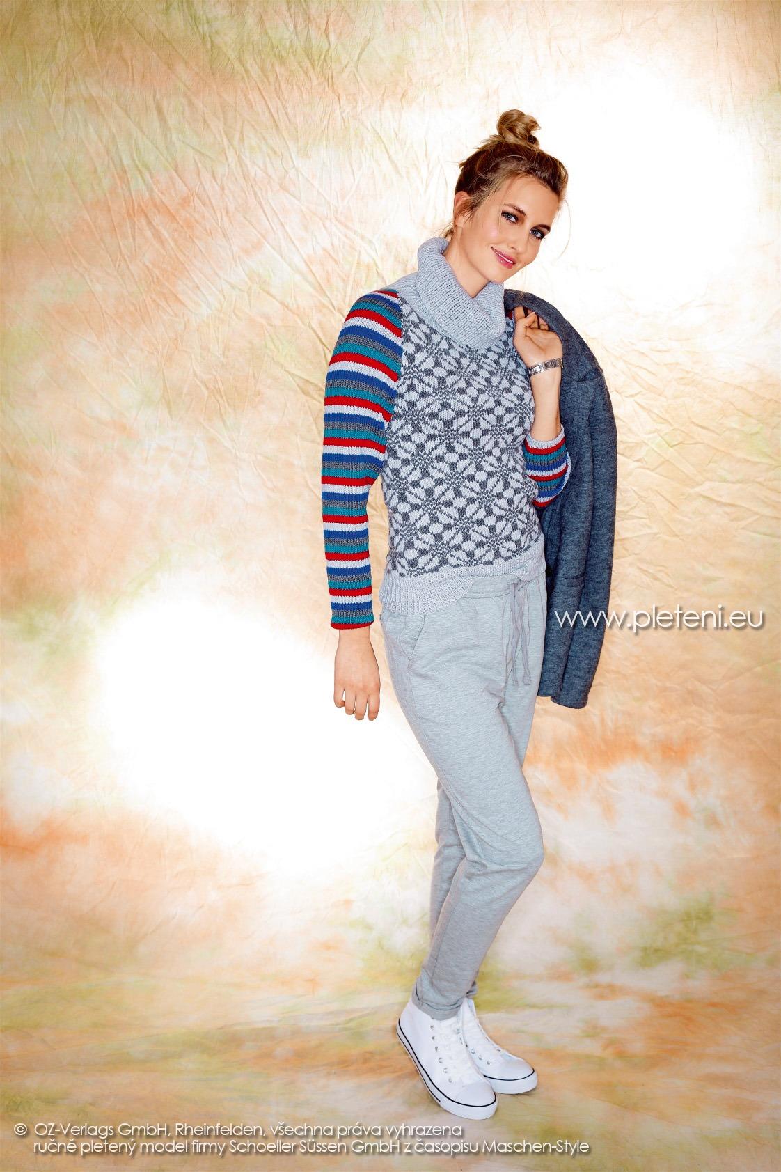 2017-2018 model 16 dámský pletený svetr z příze Merino 105 firmy Schoeller
