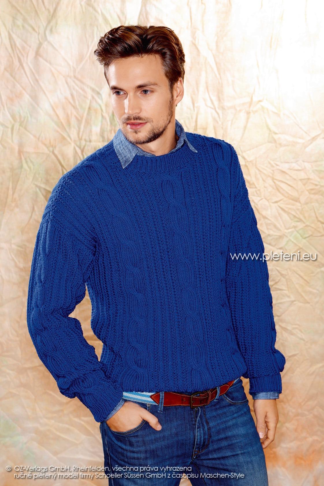 2017-2018 model 19 pánský pletený svetr z příze Merino 105 firmy Schoeller