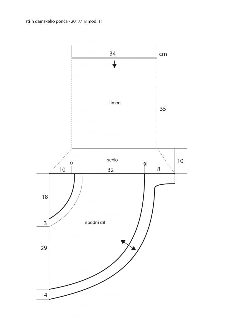 cd47bc4e659 2017-2018 model 11 střih dámského pleteného ponča