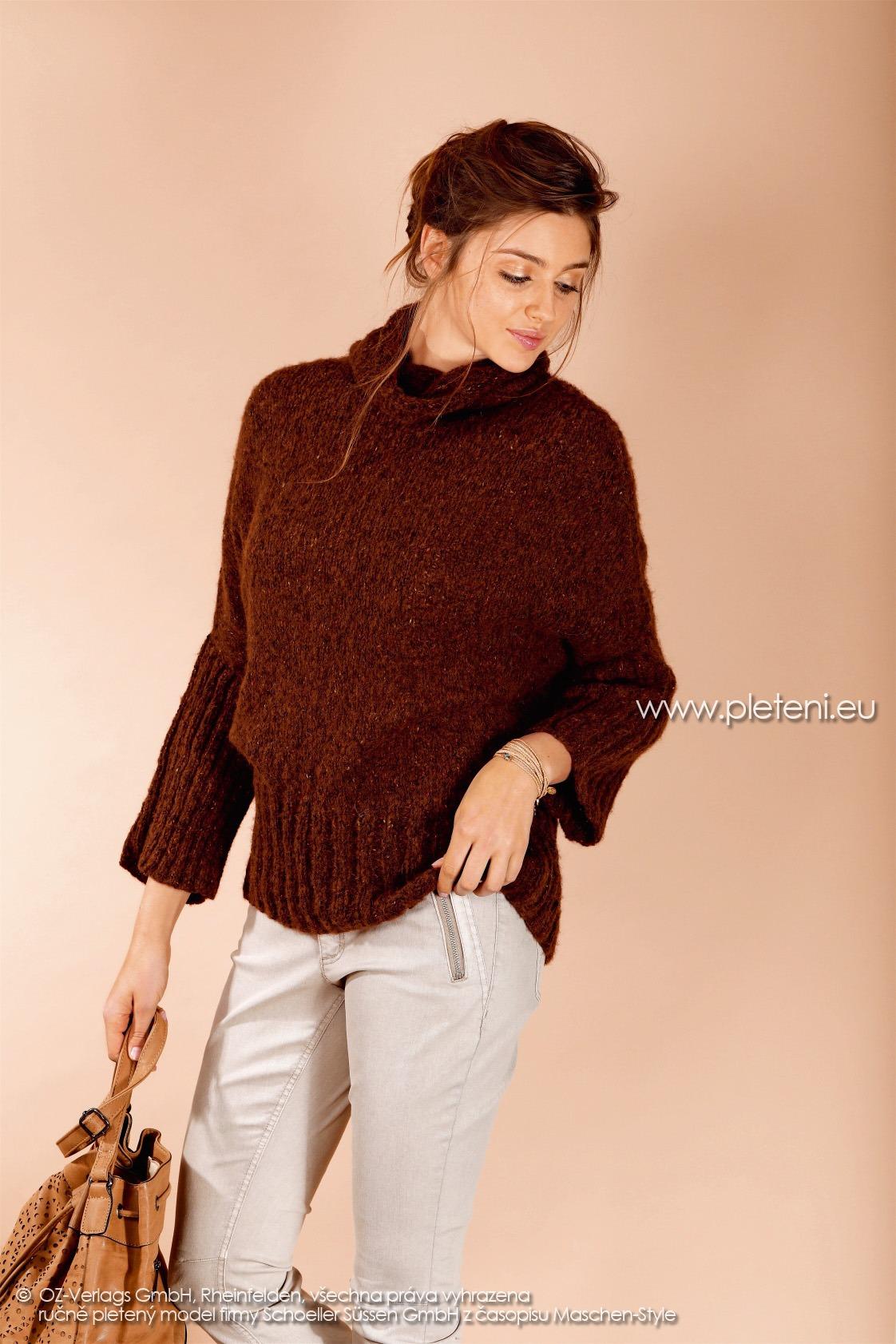 2017-2018 model 26 dámský pletený svetr z příze Alpace Tweed firmy Schoeller