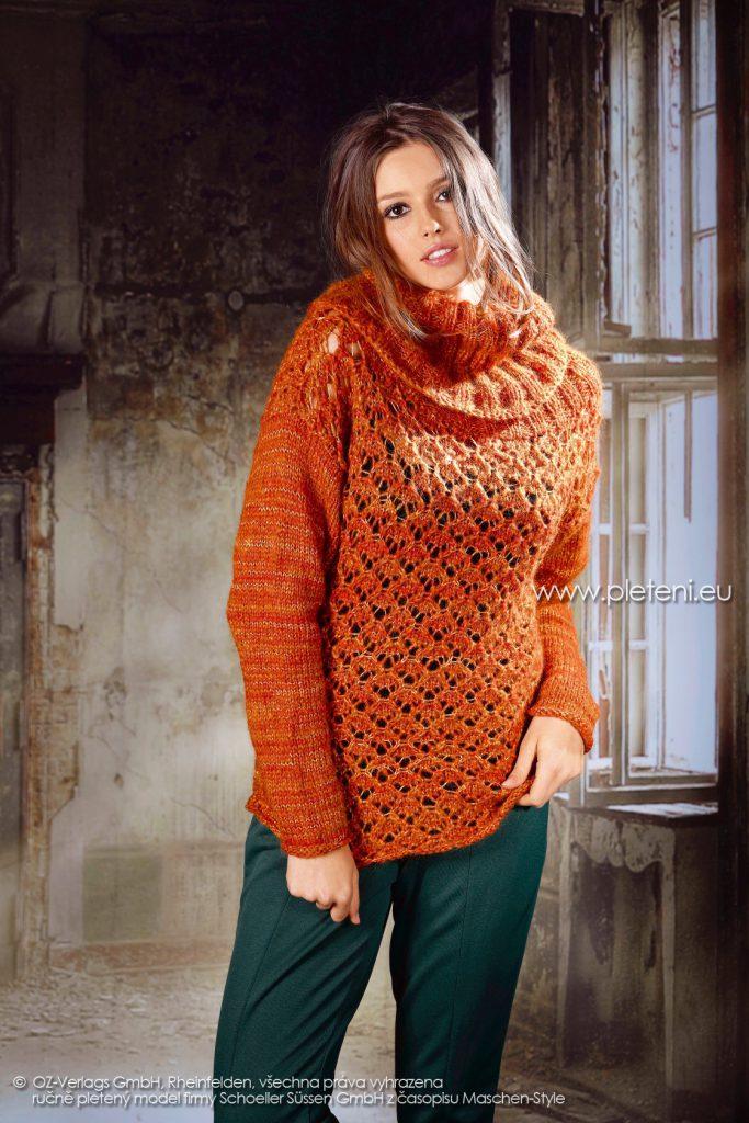 2017-2018 model 31 dámský pletený svetr z příze Bellissima firmy Schoeller