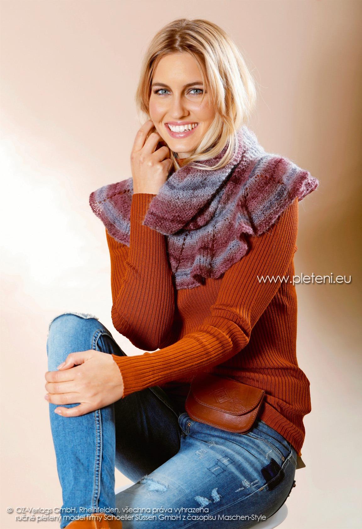2017-2018 model 41 dámský pletený nákrčník z příze Allround firmy Schoeller