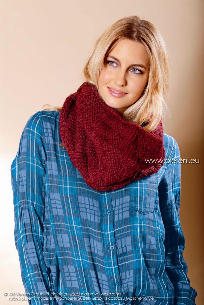 2017-2018 model 42 dámský pletený nákrčník z příze Fay firmy Schoeller