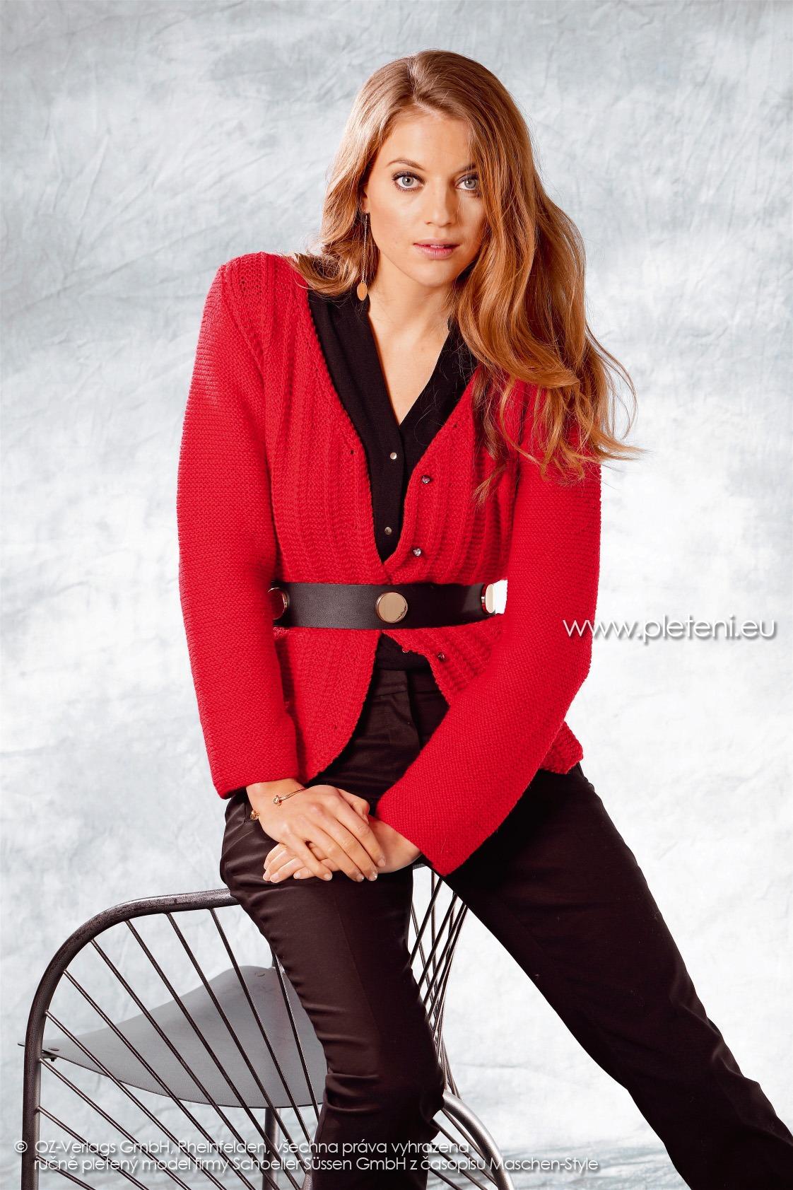 2017-2018 model 59 dámský pletený kabátek z příze Allround firmy Schoeller