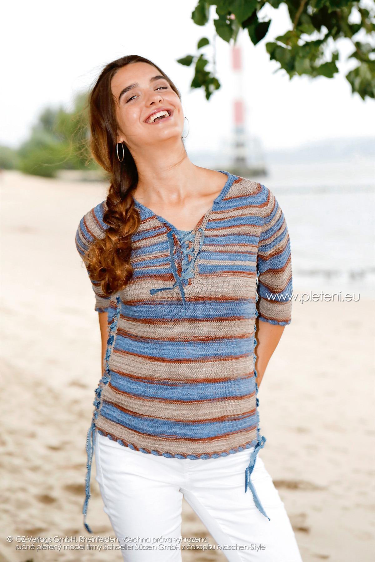 2018-L-02 dámský svetr z příze Bio Cotton Color firmy Schoeller