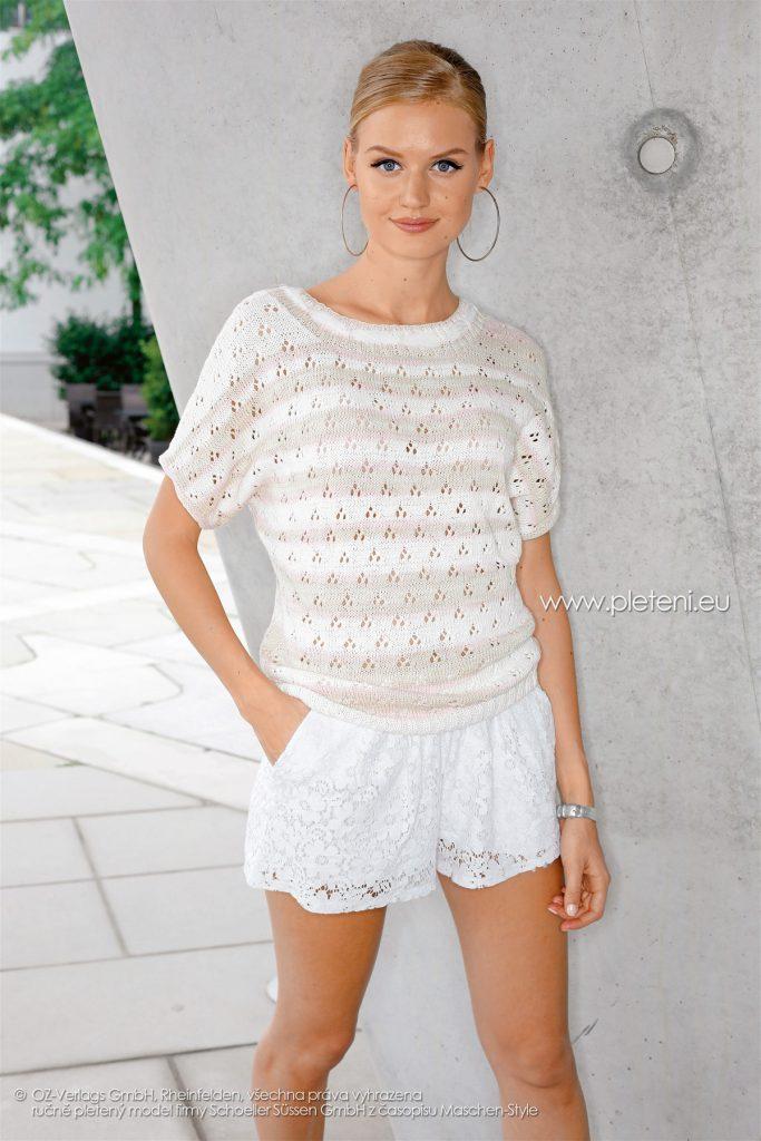 2018-L-10 dámský svetr z příze Bio Cotton Color firmy Schoeller