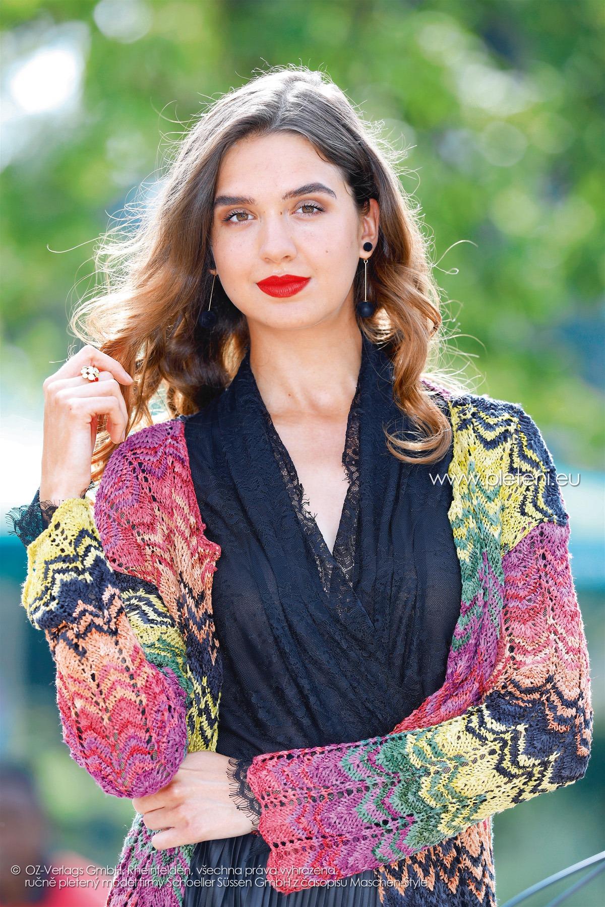 2018-L-13 dámský kabát z příze Shalima firmy Schoeller