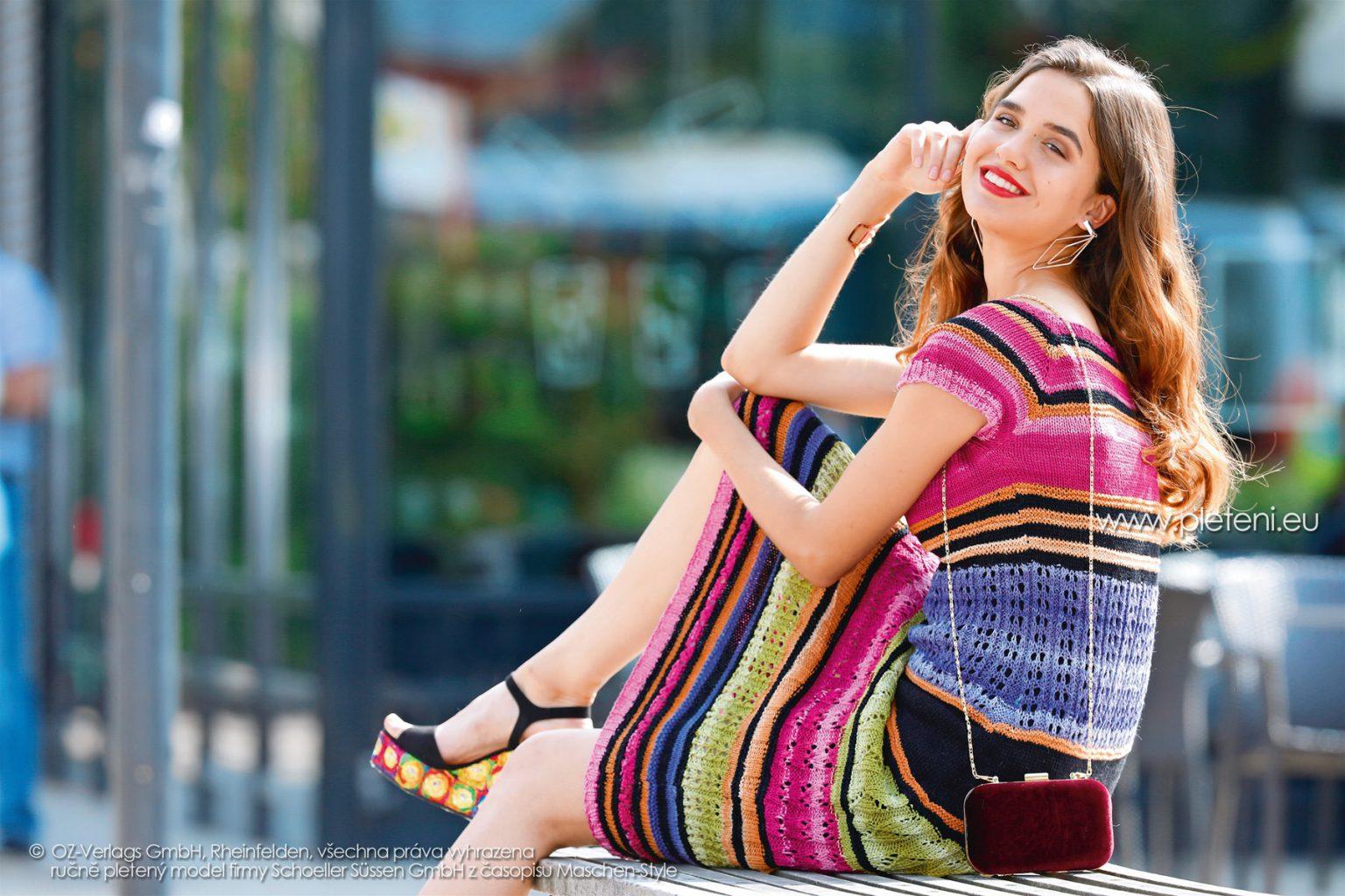 2018-L-15 dámské šaty z příze Satin Cotton firmy Schoeller
