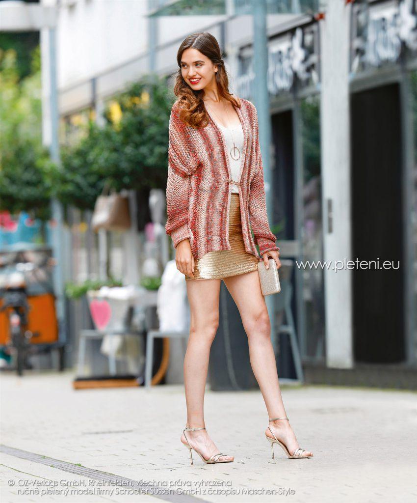 2018-L-16 dámský kabátek z příze Kendy firmy Schoeller
