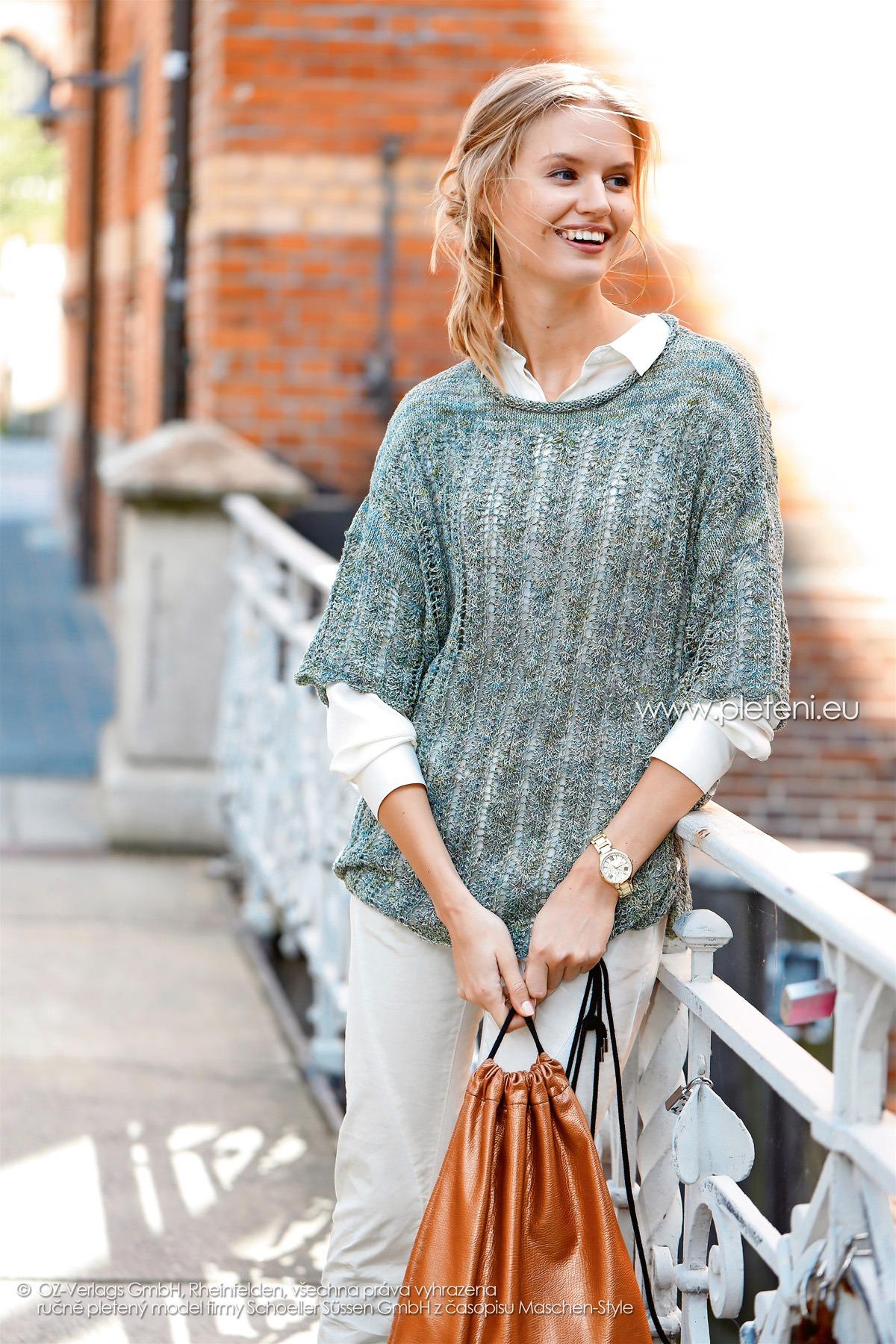 2018-L-21 dámský svetr z příze Magic Silk Color firmy Schoeller