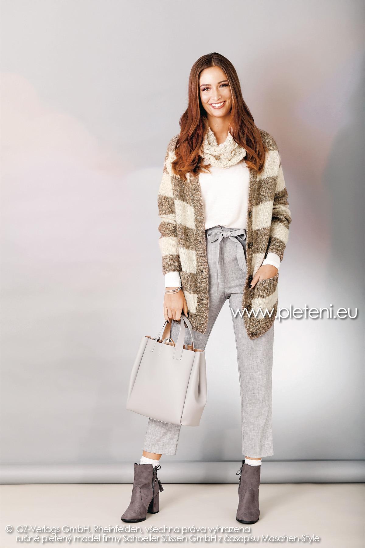 2018-Z-01 dámský kabátek z příze Alpaca Star nebo Mohair Dream firmy Schoeller