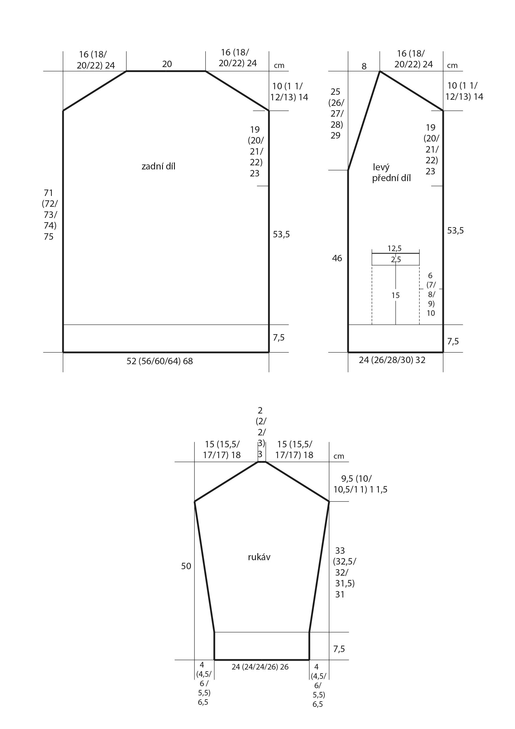 2018-Z-01 střih pleteného kabátku