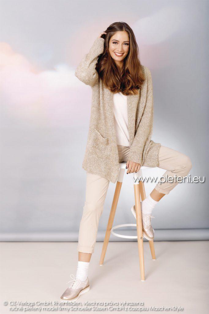 2018-Z-04 dámský kabátek z příze Mohair Dream nebo Alpaca Star firmy Schoeller