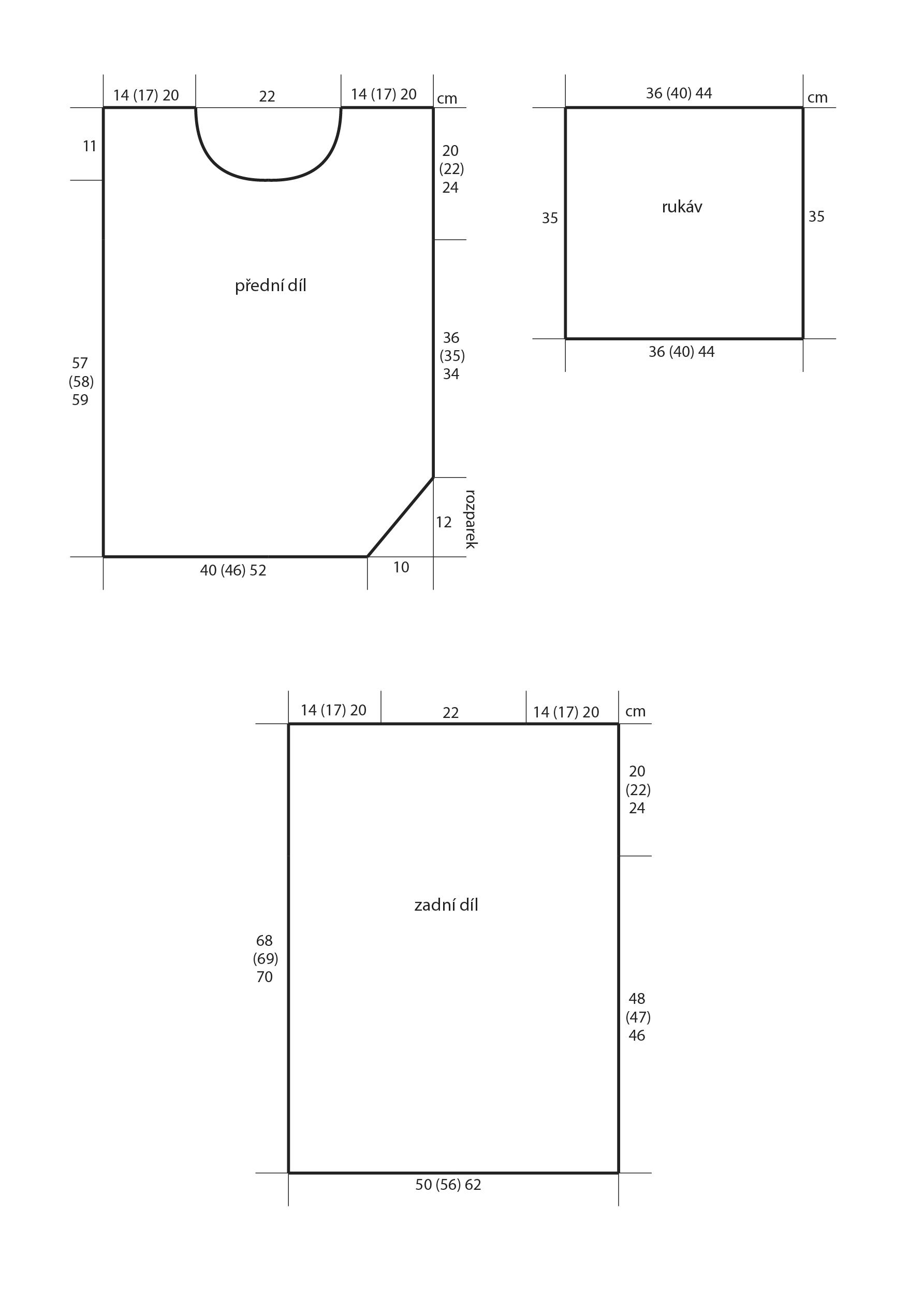 2018-Z-09 střih dámského pleteného svetru