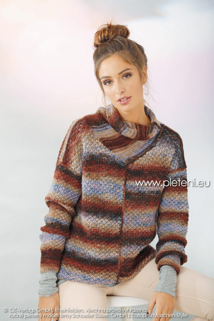 2018-Z-11 dámský pletený svetr z příze Mia Bella firmy Schoeller