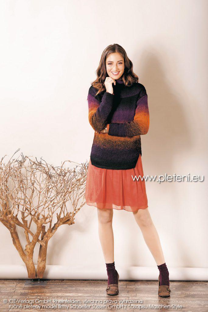 2018-Z-15 dámský pletený svetr z příze Chic & Warm nebo Caleido firmy Schoeller