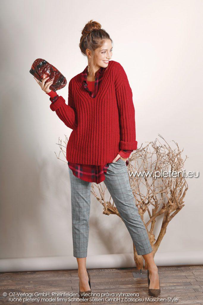 2018-Z-17 dámský pletený svetr z příze Biola firmy Schoeller