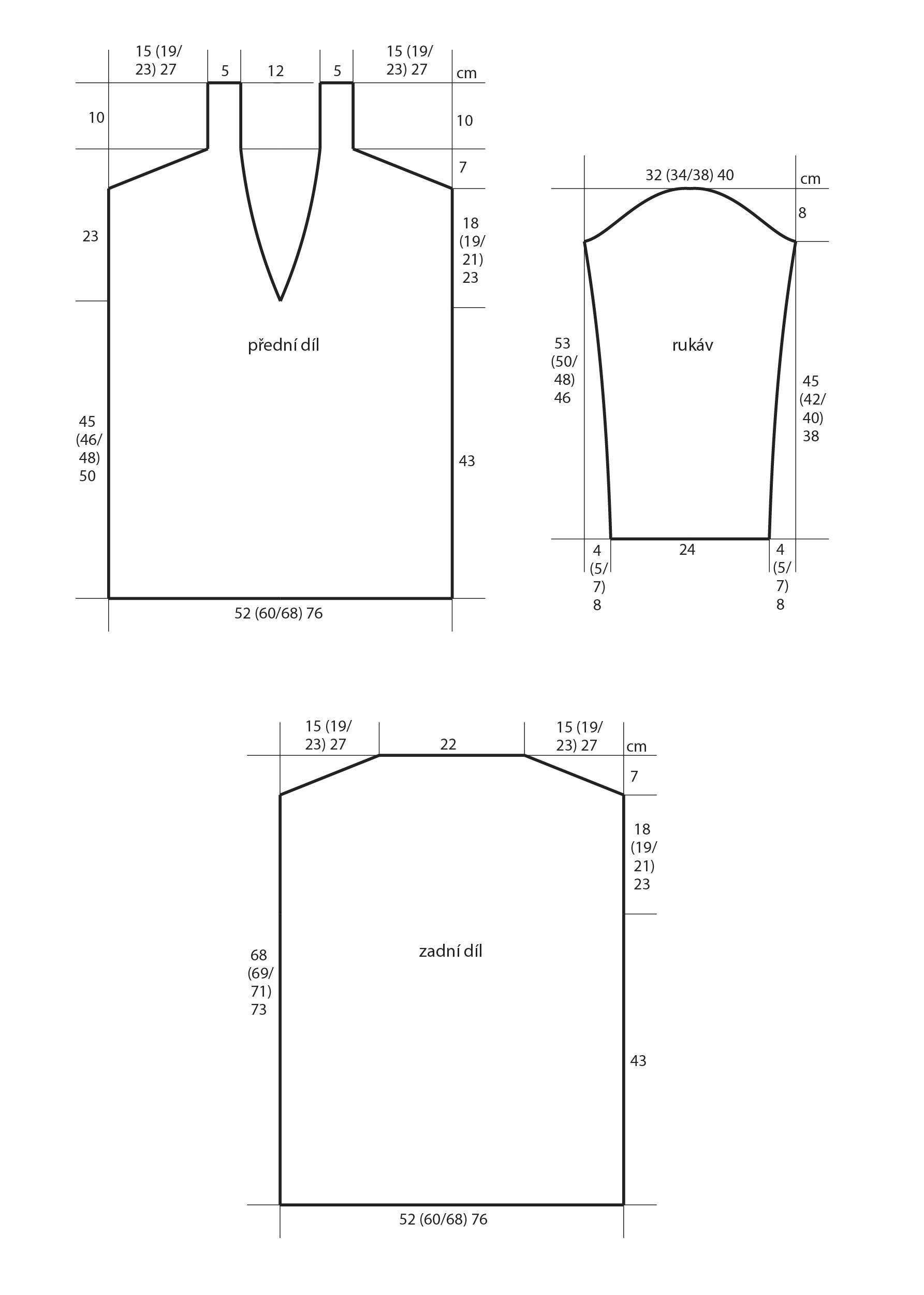 2018-Z-17 střih dámského pleteného svetru