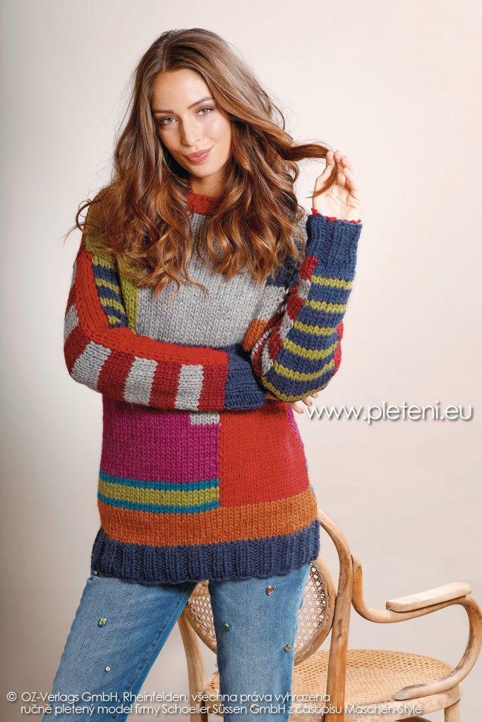 2018-Z-18 dámský pletený svetr z příze Fey firmy Schoeller