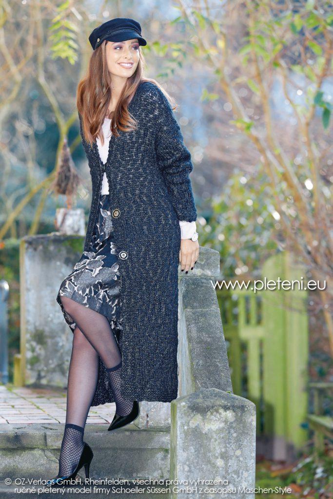 2018-Z-19 dámský pletený kabát z příze Big Flame firmy Schoeller