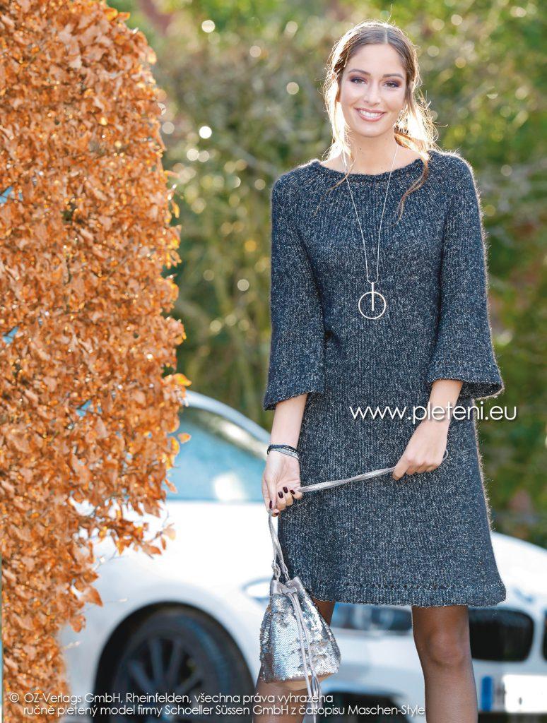 2018-Z-21 dámské pletené šaty z příze Alpaca Star firmy Schoeller