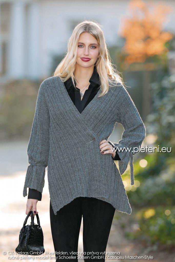 2018-Z-23 dámský pletený kabátek z příze Step Classic firmy Schoeller