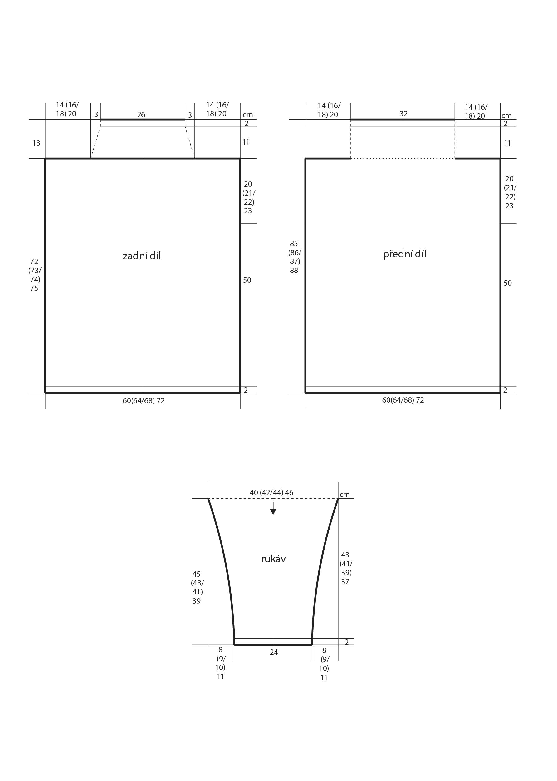 2018-Z-25 střih dámského svetru