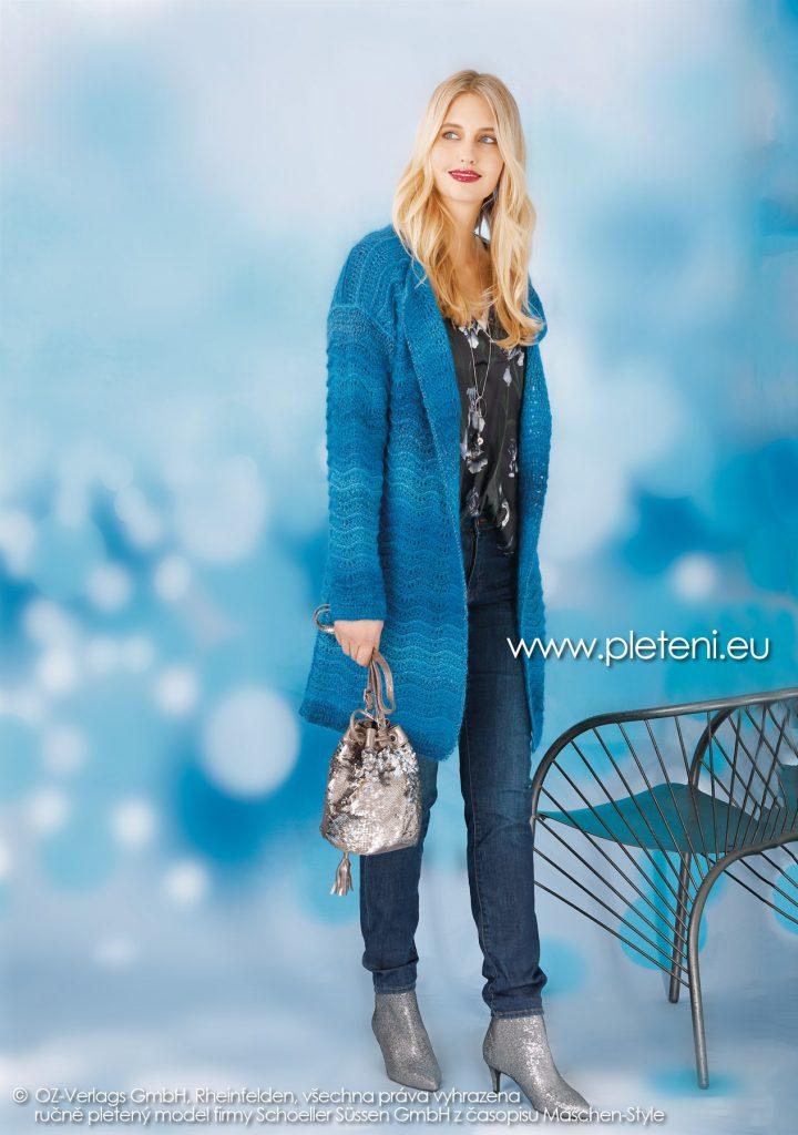 2018-Z-26 dámský háčkovaný kabátek z přízí Murano (not only) for Socks a Kid Silk firmy Schoeller