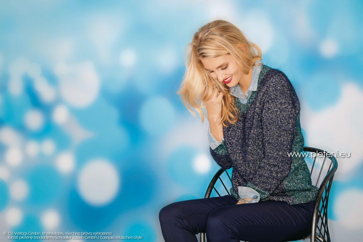 2018-Z-29 dámský pletený svetr z příze Alpaca Star nebo Mohair Dream firmy Schoeller