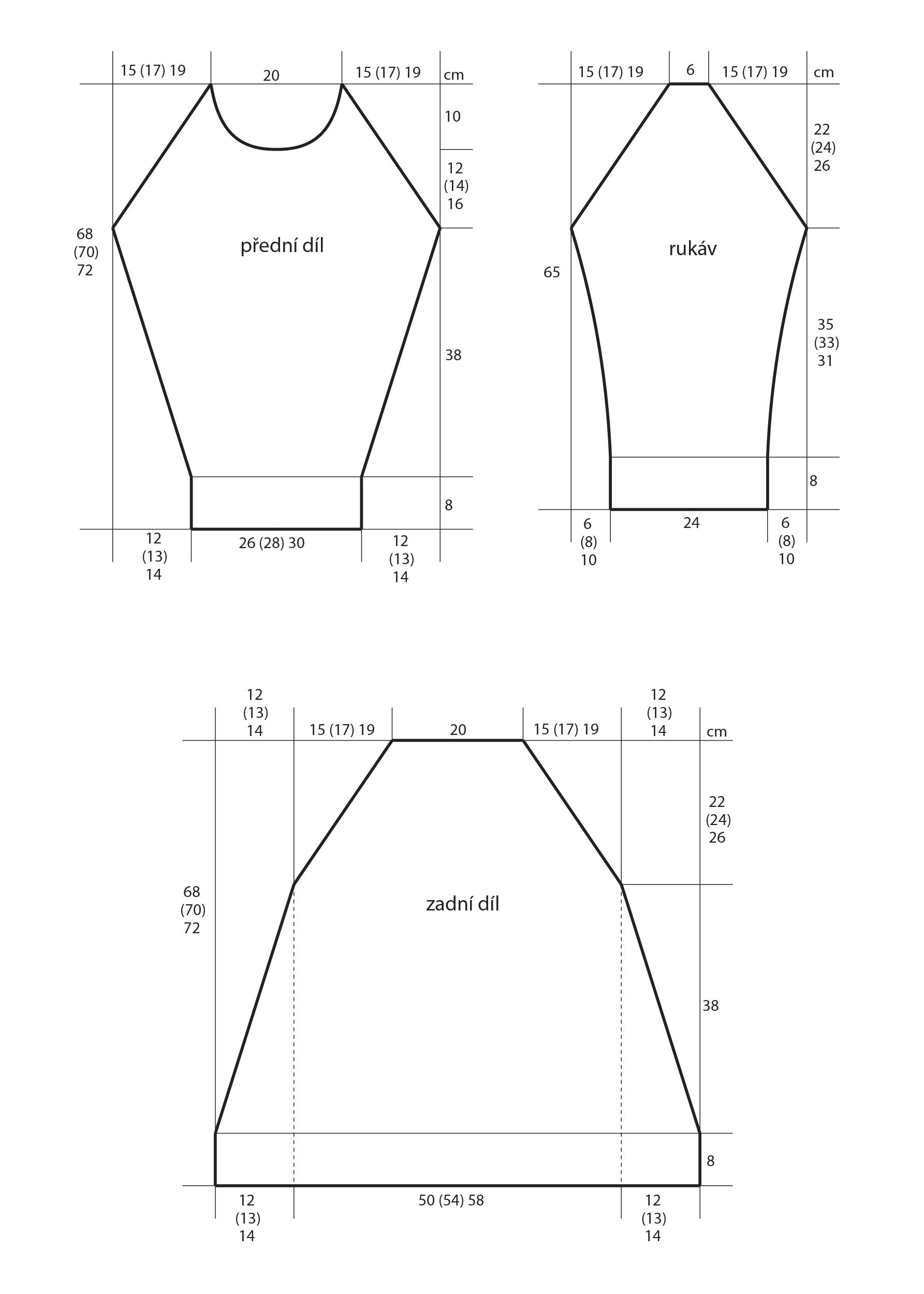 2018-Z-29 střih dámského svetru