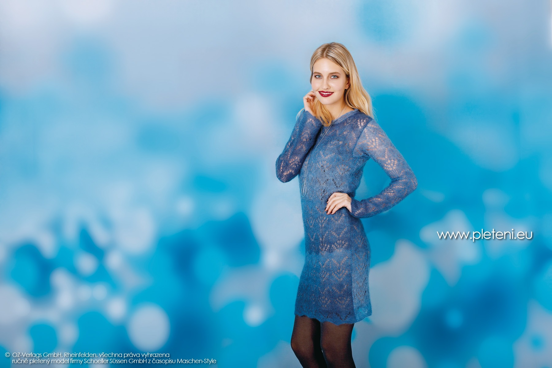 2018-Z-32 dámské pletené šaty z příze Kid Silk Degradé firmy Schoeller